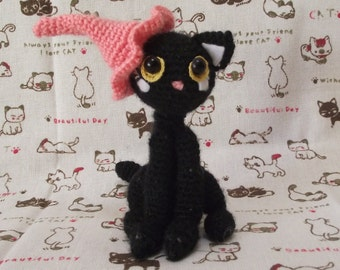Crochet cat/black cat/ handmade cat/ amigurumi /amigurumi cat
