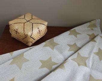 Fabric Ikea decoration vintage 80s stars gold