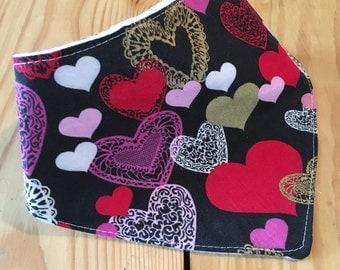 Valentine's Bandana Bib, Baby bibs, Bandana Bib, drool bib, bibdana