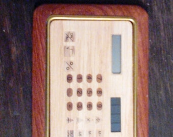Solar Powered Calculator made in wood