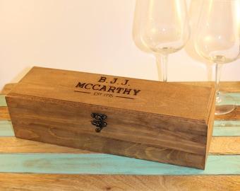 Custom hand burned wine/whiskey box