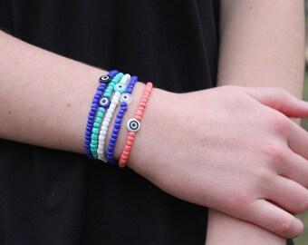 Evil Eye Stack Bracelets (Set of 5)