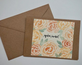 You're Invited Blank Inside Card