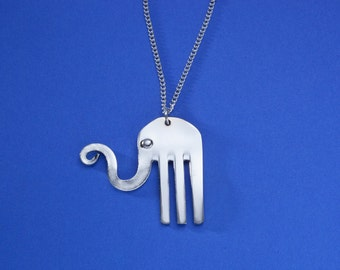 Fork Happy Elephant Necklace