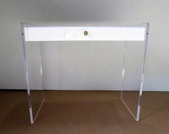 New Acrylic  Lucite Vanity Table