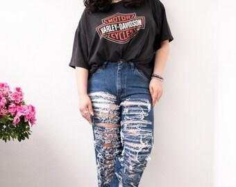 SPLIT CUT Boyfriend Jeans