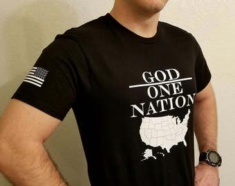 One Nation Under God Christian T-Shirt (Men's)