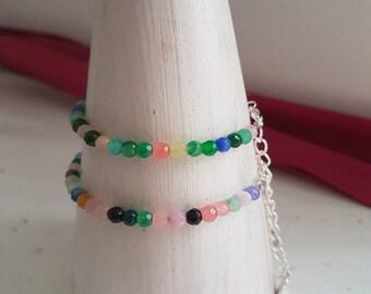 Bracelet carved Jade - Multicolor - detail