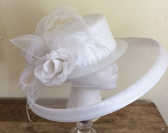 White formal hat