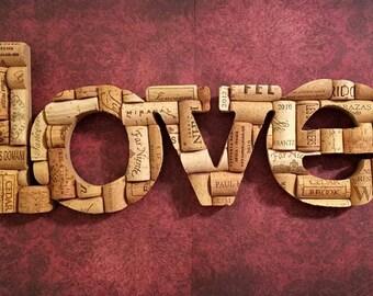 """14.5""""x6"""" Corked """"love"""""""
