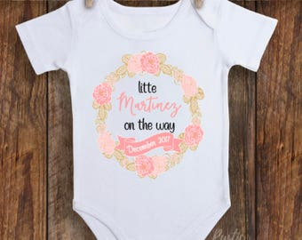 pregnancy announcement, mom to be, cute floral announcement, baby announcement, preggers announcement, Spanish announcement,SEE Item Details