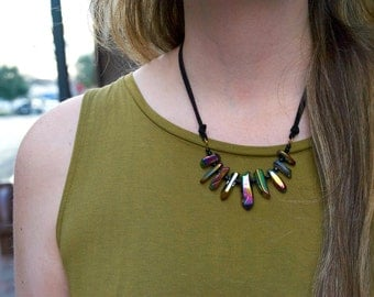 Rainbow hematite necklace