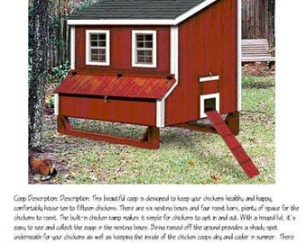 5x6 lean to chicken hen house coop plans material