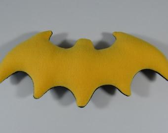 "Yellow black bat ""Batman"" from fleece"