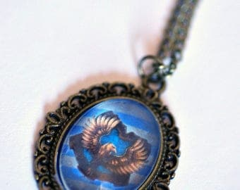 Harry Potter Ravenclaw Necklace Hogwarts Houses (also available; Slytherin, Gryffindor and Hufflepuff) Wizard World