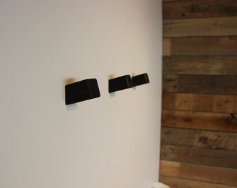3 Wenge Wall Hook, Wooden Coat Hook, Coat Rack, Modern Wooden Hook, Hat Hook