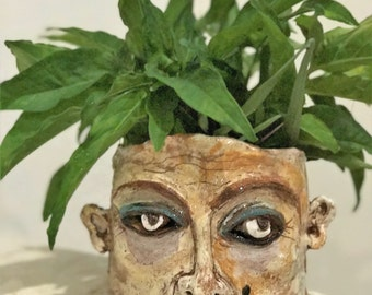 Artist Bespoke   Pot  Plantet theme of Luna Park