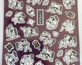 Washi Sticker - Sumo Design - Sticker Pack - Planner Sticker - Decorative Sticker - Japanese Sticker - Fancy Sticker - Kawaii Stickers