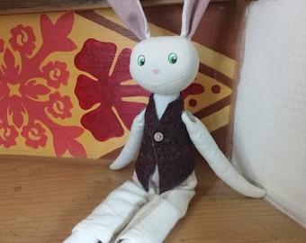 Doll rabbit Warren in summer costume