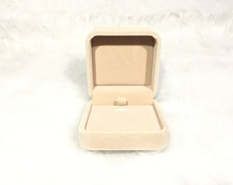 Gift Box - Velvet Earrings / Necklace Box Jewelry Case Box Packaging Supplies