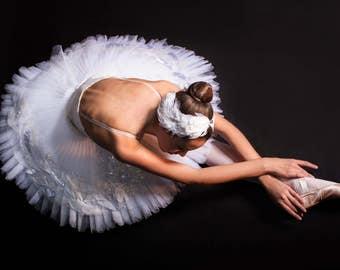 Odette headpiece, Swan Lake Ballet Swan headdress feathers, Swan feathers, Swanlake, Odette white headgear, glitter, rhinestone