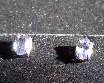 Top Grade Tanzanite Sterling Silver Earrings