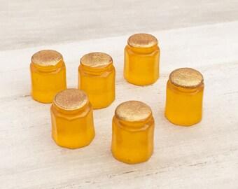 Mini Honey Cabochons - Yellow (5 pcs) Kawaii Cabochons Resin Mini Small Cell Phone Deco