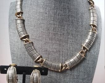 silver tone modernist set
