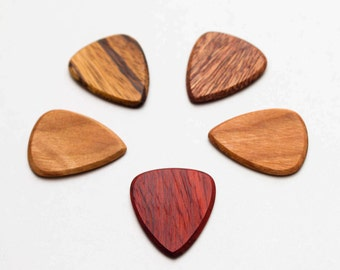Hand-crafted hard wood picks , set of 5 by Better Wooden Picks. Ships free in U.S!