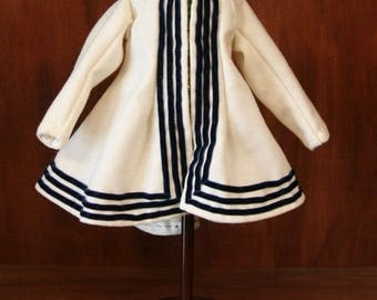 """Reproduction Antique Doll Wool Paletot jacket for 18""""-20"""" China Head Doll"""
