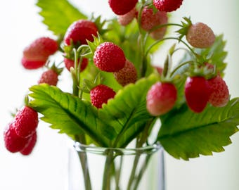 Strawberries Table decoration Interior composition Interior decoration Sprig of strawberry Berry Berries