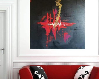 IGUAL acrylic abstract painting H100cm x W100cm