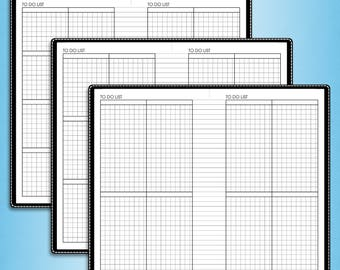 To do list planner, #E-T (printable filofax personal size inserts, personal travelers notebook inserts, personal tn inserts)