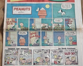 Vintage Peanuts Comic Strip