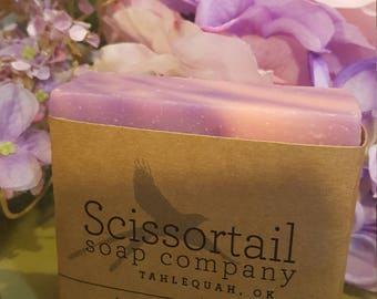 Hydrangea Olive Oil Soap- Scissortail Soap Co.