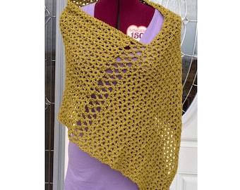 Poncho, Crochet Poncho, Women Ponchos, Summer Poncho, Knit Poncho, Gift For Her, Spring Poncho, Light Cotton Poncho