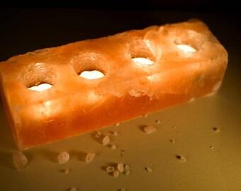 HIMALAYAN SALT LAMP - 4 Hole Tea Light   **100% Lifetime Guarantee**