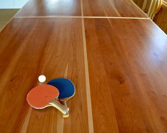 Modern Cherry Ping Pong Table