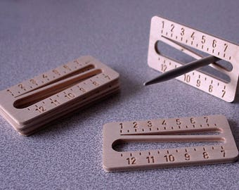 Crochet and Knitting Needle Gauge