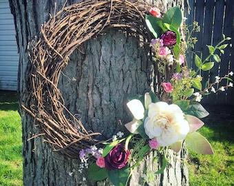 Spring Wreath   Front Door Wreath   Floral Wreath   Spring Decor