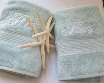 His and Hers Bath Towel Set