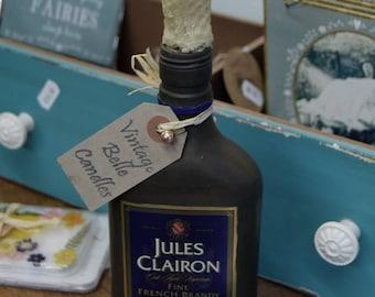 Brandy Bottle Candle Holder