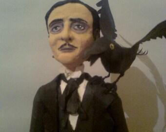 Edgar Allan Poe's paper sculpture. Completely handmade
