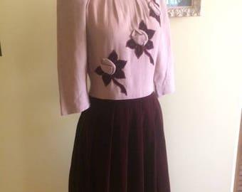 1940s Daryl Junior Original Dress