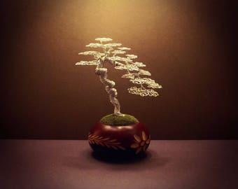 Wire Bonsai #02 - A silver 'literati' style