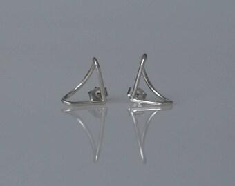 Silver Hug Earrings