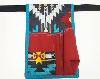 Tribal and Turquoise Massage Lotion/Oil Holster-Made to Order-RIGHT HIP-Tribal-Turquoise-Massage Lotion Holster-Massage Oil Holster-Massage