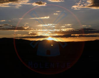 Artistic sunset digital download