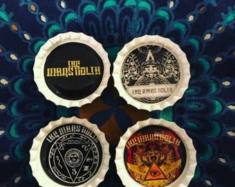 Mars Volta Bottle Cap Magnets Set of 4