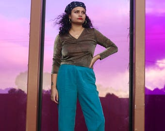 80s Turquoise Pants